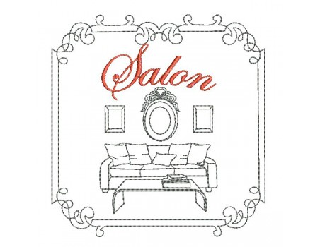 Motif de broderie machine salon