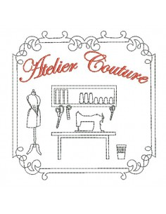 Instant download machine embroidery design living room