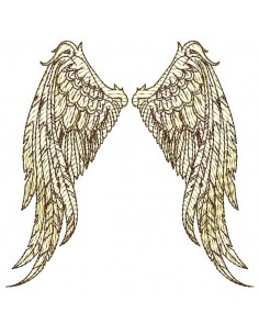 Motif de broderie machine  ailes d'ange