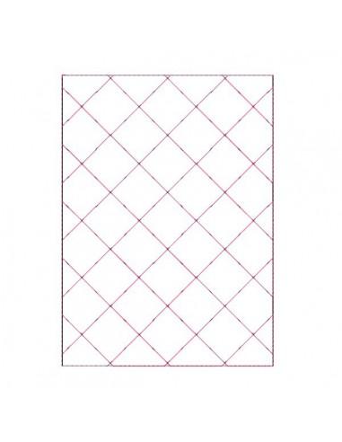Instant download machine embroidery design basting frame