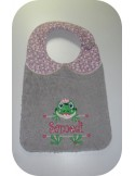 Instant download machine embroidery frog to customize for boy