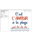 Instant download machine embroidery design happy like a fish in water
