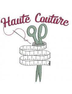 Motif de broderie machine  haute couture