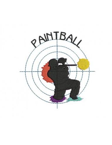 Motif de broderie Paintball