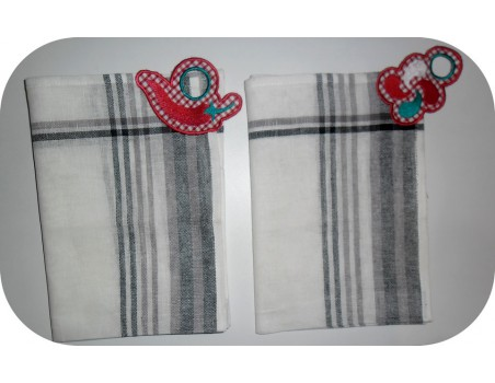 Instant download machine embroidery design  chilli pepper Towel Topper