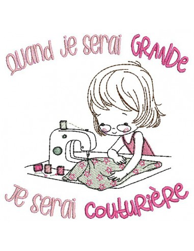 Instant download machine embroidery design  little girl doctor