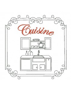 Instant download machine embroidery design bedroom