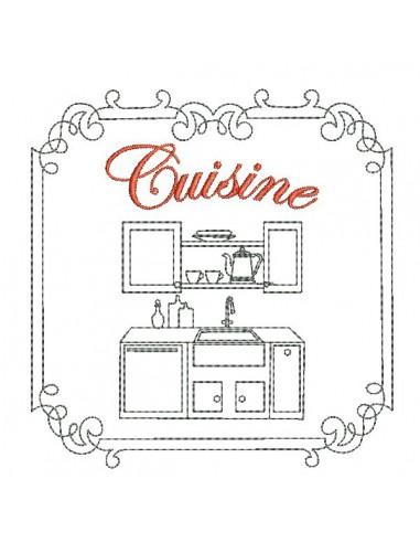 Instant download machine embroidery design bedroom