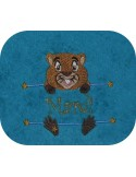 Instant download machine embroidery cat to customize for boy