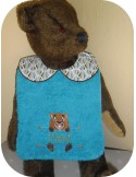 Instant downloads machine embroidery design machine  ITH  bib customizable  cat  boy