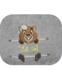 Instant download machine embroidery marmot to customize