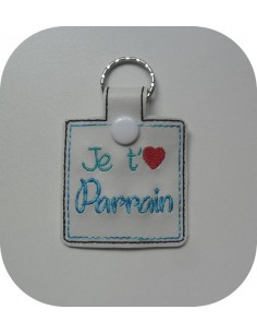 machine embroidery design  I love you grand'ma keychains ith