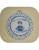 Instant download machine embroidery design  little boy policeman