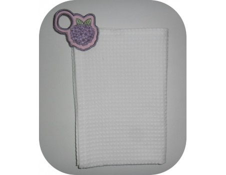 Instant download machine embroidery design  peony shabby Towel Topper