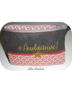 Instant download machine embroidery  audacieuse  kit ith