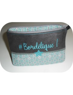 Motif de broderie machine ITH trousse bordélique
