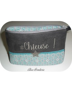 Motif de broderie machine ITH trousse chieuse