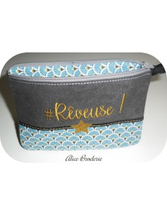 Instant download machine embroidery rêveuse kit ith