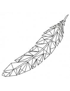 Motif de broderie machine plume  origami