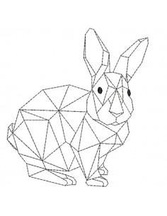 Motif de broderie machine lapin  origami