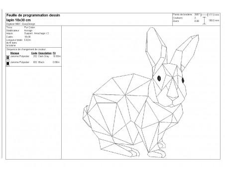 Instant download machine embroidery design geometric giraffe