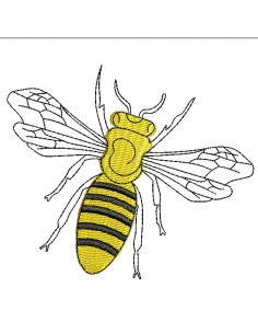 Motif de broderie machine abeille