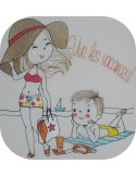 Instant download machine embroidery design  darling pack your bags