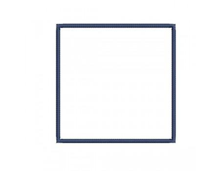 Motif de broderie cadre carré en appliqué