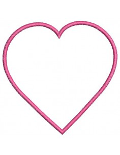 Machine Embroidery design  free applique heart frame