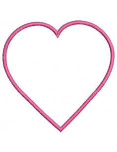 Motif de broderie cadre coeur appliqué