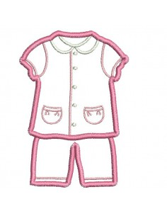 Instant download machine embroidery design  pajama