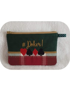 Motif de broderie machine ITH  trousse poker
