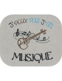 Instant download  machine embroidery design text I can not violin