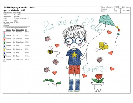 Instant download machine embroidery girl doing cutting
