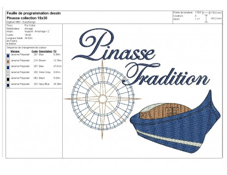 Instant download machine embroidery pinnace