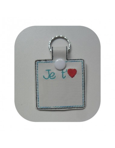 machine embroidery design  I love you mom keychains ith