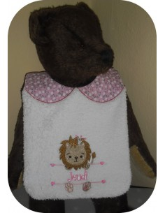 Instant downloads machine embroidery design machine  ITH  bib customizable  cow for girl