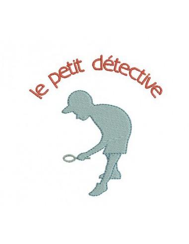 Motif de broderie le petit détective