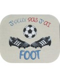 Instant download machine embroidery football