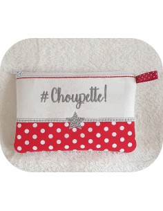 Instant download machine embroidery Choupette kit ith
