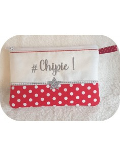 Motif de broderie machine ITH trousse Chipie