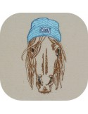 Instant download machine embroidery  horse  with his glasses