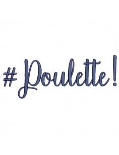 Instant download machine embroidery word poulette
