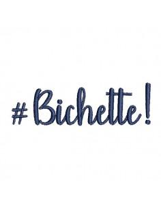 Instant download machine embroidery word bichette