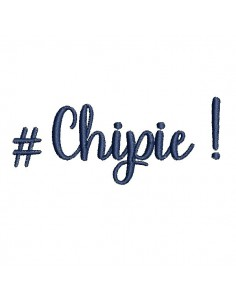 Motif de broderie machine  chipie