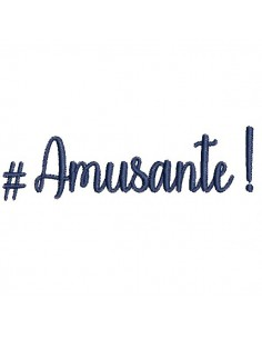 Instant download machine embroidery word amusante