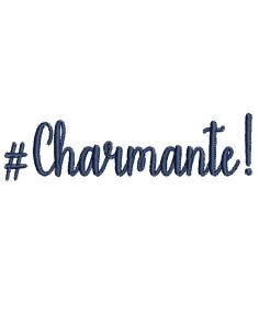Instant download machine embroidery word Charmante
