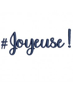 Instant download machine embroidery word Joyeuse