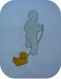 Motif de broderie bébé avec son jouet