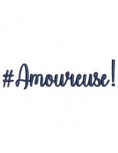 Instant download machine embroidery word Amoureuse